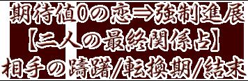 期待値0の恋⇒強制進展【二人の最終関係占】相手の躊躇/転換期/結末
