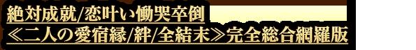 絶対成就/恋叶い慟哭卒倒≪二人の愛宿縁/絆/全結末≫完全総合網羅版